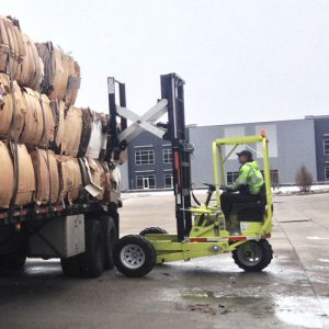 Interwest Paper, Inc. offers Forklift service pickups