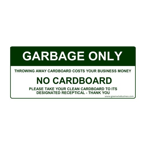 Garbage Only - No Cardboard Small